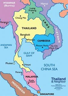 карта с некоторыми странами Юго-Восточной Азии