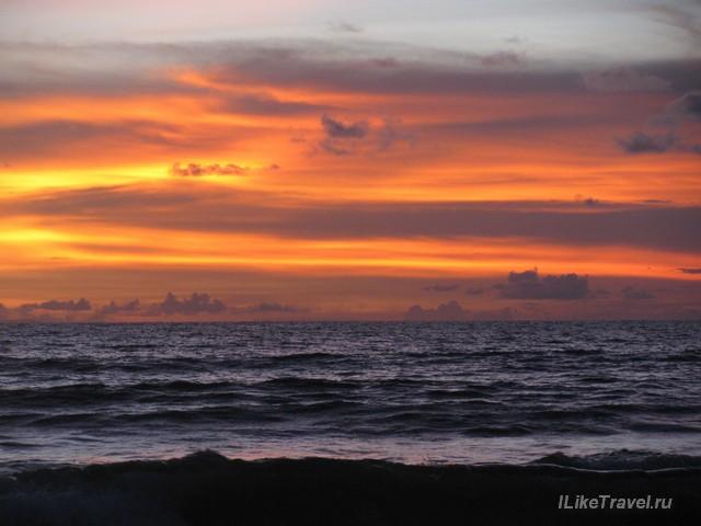Закат на Бали. Кута