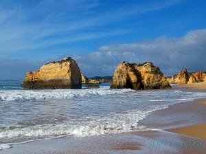 Пляж в Портимане (Португалия)